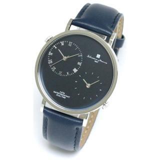 サルバトーレマーラ(Salvatore Marra)のサルバトーレマーラ デュアルタイム レザーベルト メンズ 腕時計 本革 シンプル(腕時計(アナログ))