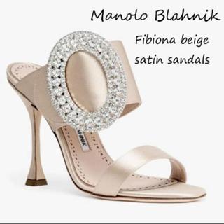 マノロブラニク(MANOLO BLAHNIK)の最終お値下げ☆マノロブラニク サンダル FIBIORA 35(サンダル)