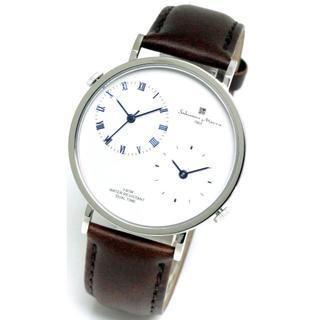 サルバトーレマーラ(Salvatore Marra)のサルバトーレマーラ メンズ 腕時計 デュアルタイム レザーベルト 本革 シンプル(レザーベルト)