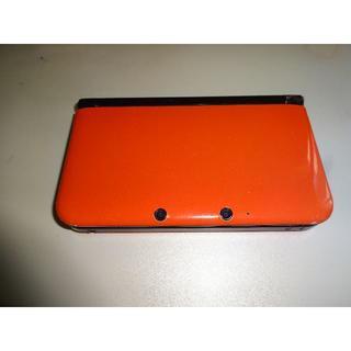 ニンテンドー3DS(ニンテンドー3DS)のジャンク品 限定版ニンテンド3DSLL ブラック×オレンジ&ACアダプター(携帯用ゲーム本体)