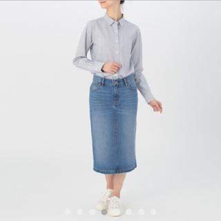 ムジルシリョウヒン(MUJI (無印良品))のオーガニックコットンストレッチデニムスカート(ひざ丈スカート)