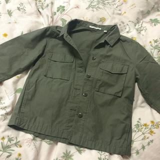 ユニクロ(UNIQLO)のミリタリージャケット アウター 春服(ミリタリージャケット)