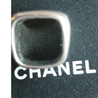 シャネル(CHANEL)のシャネル ワイドスクエア シルバー リング(リング(指輪))