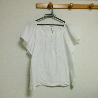 ジーユー(GU)のフレア袖トップス(シャツ/ブラウス(半袖/袖なし))