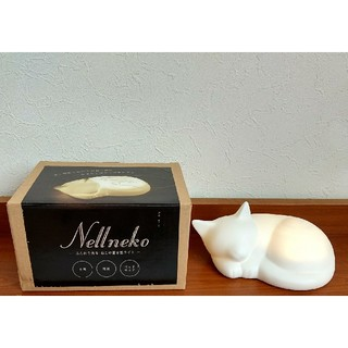 短期間使用 Nellneko 猫の 置き型ライト 磁器製 センサー 電池式(その他)