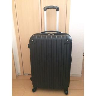 ☆新品☆ 軽量スーツケースMサイズ 伸縮ハンドル 3段階ブラック(スーツケース/キャリーバッグ)