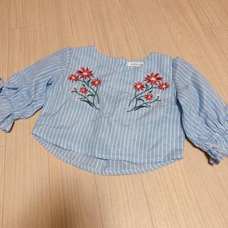 シマムラ(しまむら)のブラウス 花柄刺繍 80cm(シャツ/カットソー)