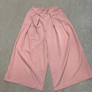 シマムラ(しまむら)の春らしいピンクのワイドパンツ*ガウチョパンツ(カジュアルパンツ)