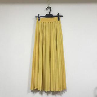 フレイアイディー(FRAY I.D)のプリーツスカート イエロー 新品(ロングスカート)