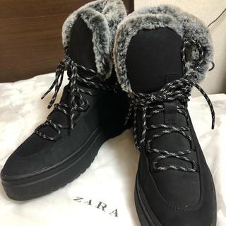 ザラ(ZARA)のzara ザラ ロングブーツ シューズ 37 24.0cm(ブーツ)