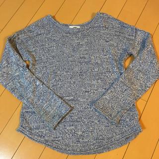 ジーユー(GU)のニットカットソー girls 8T(Tシャツ/カットソー)