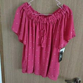 シマムラ(しまむら)の新品未使用 オフショル ピンク(Tシャツ(半袖/袖なし))