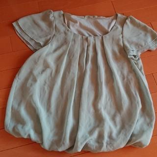 【Lサイズ】シフォン フリル袖ブラウス(シャツ/ブラウス(半袖/袖なし))