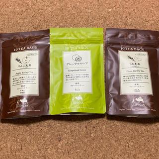 ルピシア(LUPICIA)のLUPICIAフレーバーティ3種セットうめ麦茶 りんご麦茶 グレープフルーツ緑茶(茶)