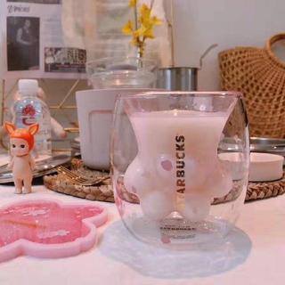 スターバックスコーヒー(Starbucks Coffee)のStarbucks 猫の手 大人気の可愛いのガラスコップ(グラス/カップ)