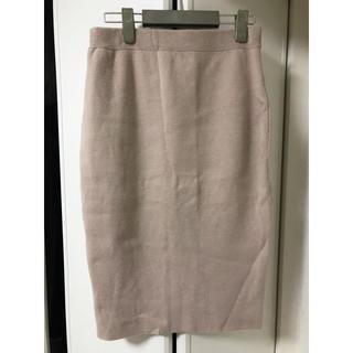 デミルクスビームス(Demi-Luxe BEAMS)のBEAMS タイトスカート 膝丈スカート くすみピンク(ひざ丈スカート)