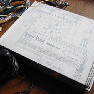 サウンドサイエンス SoundShakit サウンドシャキット PA504-G2(カーオーディオ)