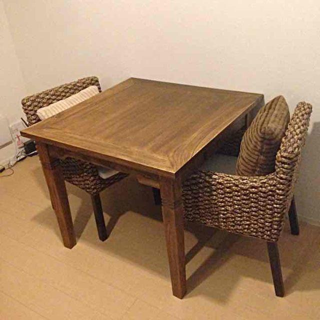 ダイニングテーブル インテリア/住まい/日用品の机/テーブル(ダイニングテーブル)の商品写真