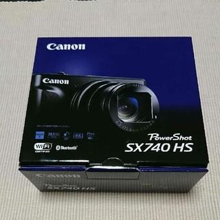 キヤノン(Canon)のCanon PowerShotSX740HS (ブラック) 新品未使用(コンパクトデジタルカメラ)