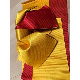 浴衣の帯 朱色黄色(浴衣帯)