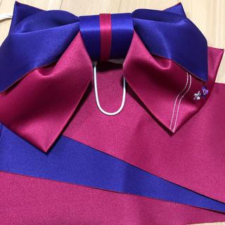 浴衣の帯 紫赤ピンク (浴衣帯)