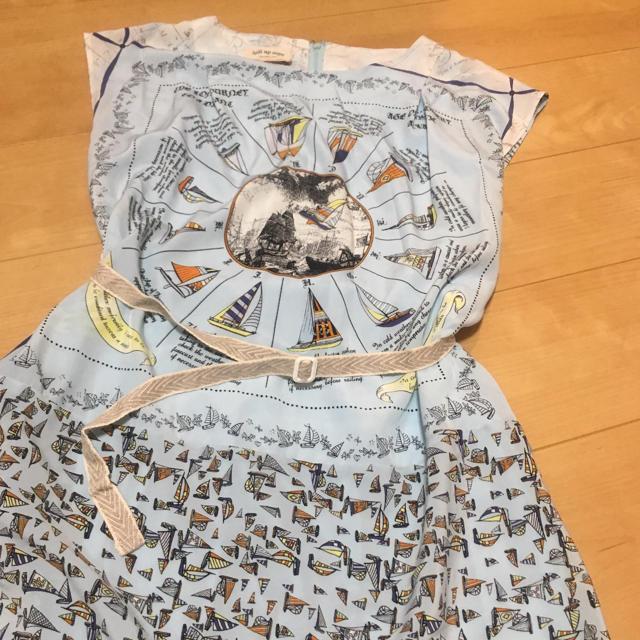 doll up oops(ドールアップウップス)のドールアップウップス ヨット柄ワンピース レディースのワンピース(ひざ丈ワンピース)の商品写真