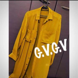 ジーヴィジーヴィ(G.V.G.V.)の【試着のみ美品】G.V.G.V design shirt/OPとしても使用可▼(ひざ丈ワンピース)