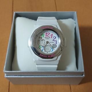 Baby-G 腕時計 BGA-101 白 ホワイト ラメ カラフル