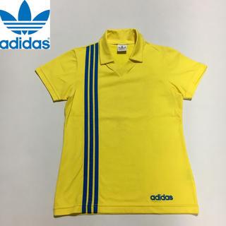 アディダス(adidas)のヴィンテージ デサントタグ  ポロシャツ イエロー S-Mサイズ(ポロシャツ)