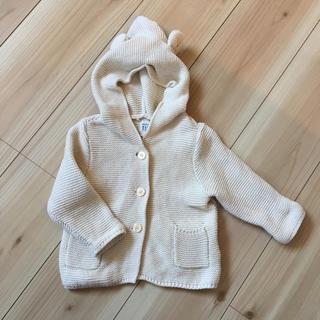 ベビーギャップ(babyGAP)のくま耳フードガーター編みセーター(ニット/セーター)