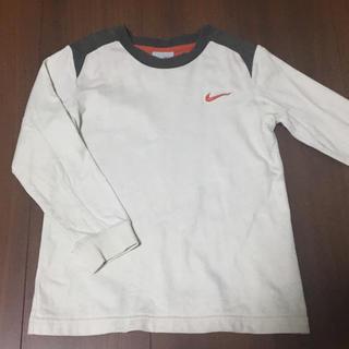 ナイキ(NIKE)のナイキ Nike Tシャツ ロンT 110 ベージュ×ブラウン 100(Tシャツ/カットソー)