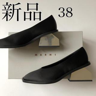 マルニ(Marni)の新品 38 MARNI マルニ メタリック ヒール パンプス ブラック(ハイヒール/パンプス)