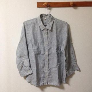 ムジルシリョウヒン(MUJI (無印良品))のストライプシャツ(シャツ/ブラウス(半袖/袖なし))
