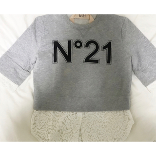 ヌメロヴェントゥーノ(N°21)のN°21 ヌメロ レースtシャツ(Tシャツ(半袖/袖なし))
