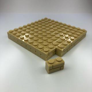 レゴ(Lego)の【新品】LEGO タン 01×02 レンガ柄 ブロック 50個(積み木/ブロック)