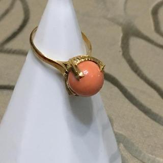 K18サンゴリング(リング(指輪))
