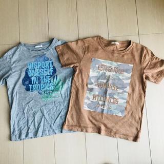 ジーユー(GU)の☆お得☆夏柄半袖Tシャツ2枚セット  130(Tシャツ/カットソー)
