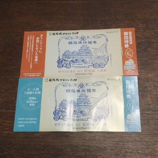 姫路城 入場券 2枚(その他)