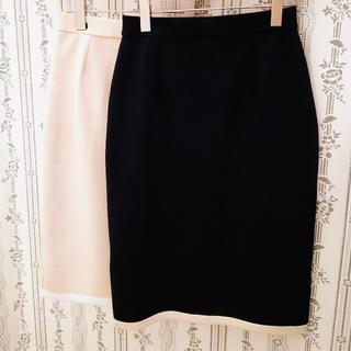デミルクスビームス(Demi-Luxe BEAMS)のミラノリブバイカラースカート デミルクスビームス   新品(ひざ丈スカート)