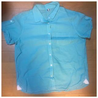 ジーユー(GU)の#ミントグリーン(シャツ/ブラウス(半袖/袖なし))
