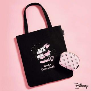 ディズニー(Disney)のミッキー&ミニー トートとポーチの2点セット。(トートバッグ)