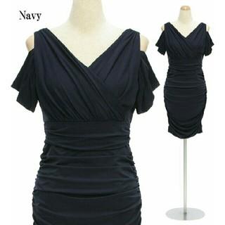 デイジーストア(dazzy store)のオフショルダー ギャザータイトドレス(ナイトドレス)
