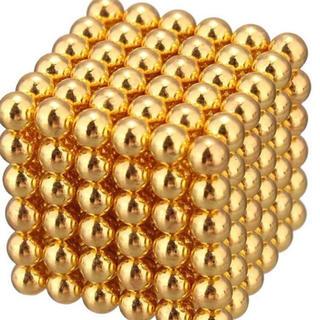 【ケース付】マグネット ボール ゴールド 3mm 216個(その他)