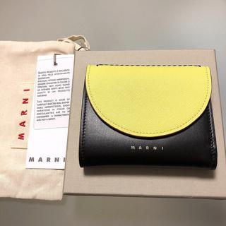 マルニ(Marni)のマルニ MARNI カーフスキン スクエアウォレット 二つ折り ミニ財布(財布)