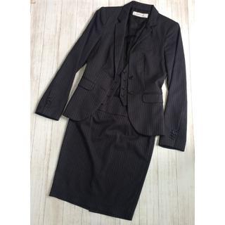 ザラ(ZARA)の【ZARA】美品 ストライプスカートスーツ上下セット S-Mサイズ ザラ(スーツ)