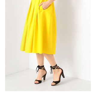 デミルクスビームス(Demi-Luxe BEAMS)のBEAMS スカート イエロー 黄色(ひざ丈スカート)