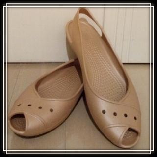 クロックス(crocs)の未使用 クロックス オープントゥ サンダル CROCS フラット シューズ 靴(サンダル)