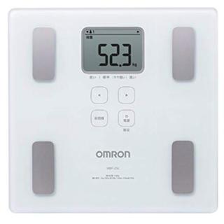 オムロン 体重・体組成計 カラダスキャン ホワイト HBF-214-W(体重計/体脂肪計)