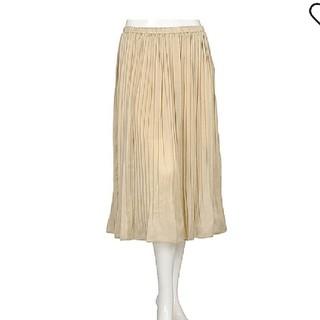 ジーユー(GU)のGU サテン プリーツスカート(ロングスカート)