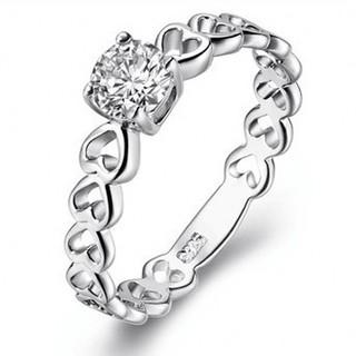 ※即日発送☞婚約指輪ギフト♥ジルコニア※金属アレ対応リング★指輪シルバー925 (リング(指輪))